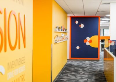 Corporate office decorating and branding